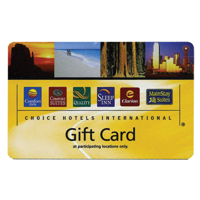 Choice hotels 174 gift card at any of the thousands of choice hotels
