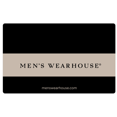 MEN'S WEARHOUSE<sup>&reg;</sup> $25 Gift Card - Buy men's suits, dress shirts, ties, dress shoes and more at great prices!